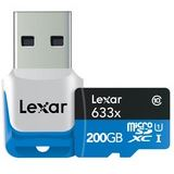 200 GB Lexar High-Performance 633x microSDXC Class 10 Retail inkl. USB-Adapter