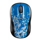 Logitech Wireless M305 Blue Flourish Optische Maus Schwarz/Blau USB