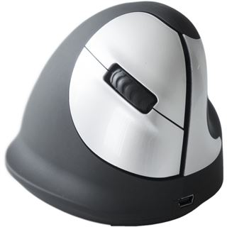 R-GO Tools HE Mouse USB schwarz/silber (kabellos)