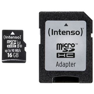 16 GB Intenso Professional Performance microSDHC Class 10 U1 Retail