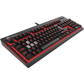 Corsair STRAFE CHERRY MX Brown - rote LED USB Deutsch schwarz (kabelgebunden)