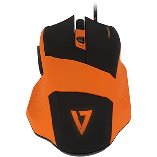 V7 GM110-2E USB orange/schwarz (kabelgebunden)