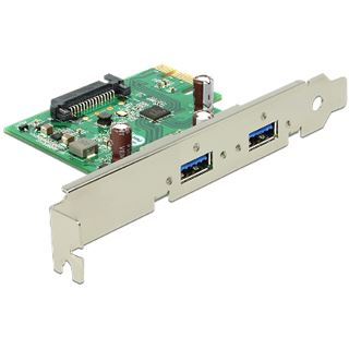 Delock 89391 2 Port PCIe 2.0 x1 Low Profile retail