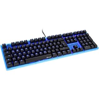 Ducky ONE Gaming CHERRY MX Green USB Deutsch blau (kabelgebunden)