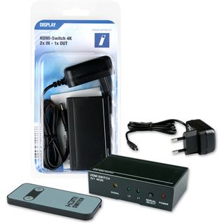 Innovation IT HDMI Switch 2x IN - 1x OUT 4K inkl. Fernbedienung
