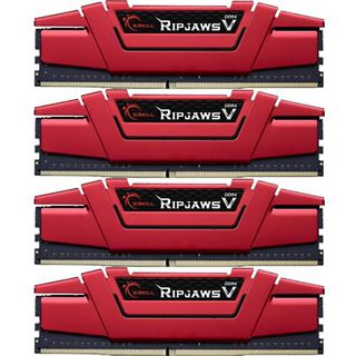 32GB G.Skill RipJaws V rot DDR4-3200 DIMM CL14 Quad Kit