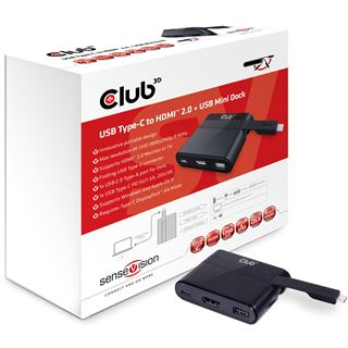 Club3D Adapter USB 3.0 Typ C > HDMI 2.0/UBS/USB-C (MiniDock)