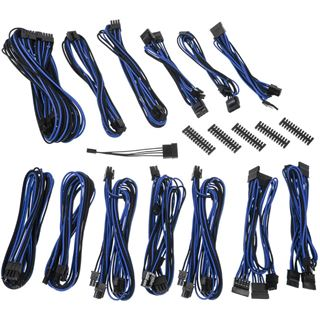 BitFenix Alchemy 2.0 PSU Cable Kit, SSC-Series - schwarz/blau