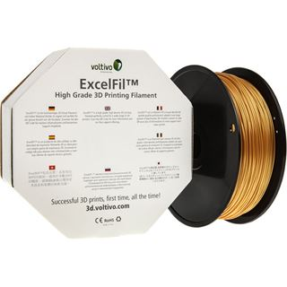 Voltivo ExcelFil 3D Druck Filament, ABS, 1,75mm - gold