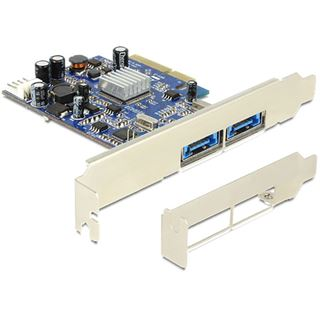 Delock PCIe 2 x Multiport USB 3.0 + eSATAp Asmedia ASM10