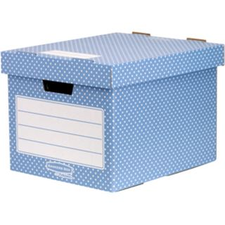 Fellowes BANKERS BOX STYLE Archiv-/Transportbox, blau/weiß