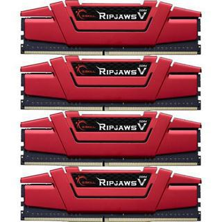 64GB G.Skill RipJaws V rot DDR4-2400 DIMM CL15 Quad Kit