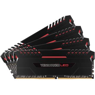 32GB Corsair Vengeance LED rot DDR4-3000 DIMM CL15 Quad Kit