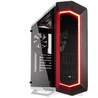 Aerocool P7-C1 Midi-Tower, Tempered Glass Edition - weiß
