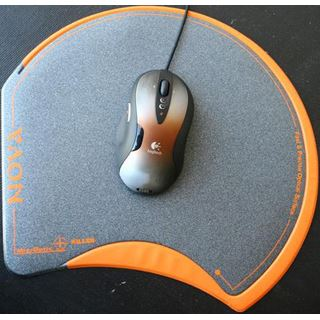 Mousepad Nova Killer Gamer-Mousepad schwarz/orange
