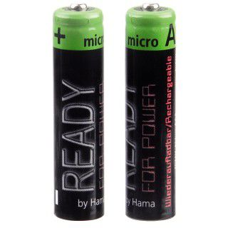 Hama ready4Power AAA / Micro Nickel-Metall-Hydrid 850 mAh 2er Pack