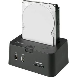 "Sharkoon SATA Quickport Pro USB 2.0 Dockingstation für 2.5"" und 3.5"" Festplatten (4044951008209)"