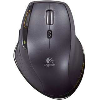 Logitech Wireless MX1100 Laser Maus Schwarz USB