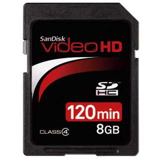 8 GB SanDisk Video HD SDHC Class 4 Retail