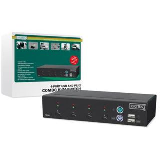 Digitus DC-12202-1 4-fach Desktop KVM-Switch