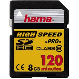 8 GB Hama Video SDHC Class 6 Bulk