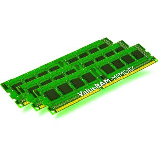 3GB Kingston ValueRAM DDR3-1333 regECC DIMM CL9 Tri Kit