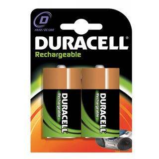Duracell Akkus HR20 Nickel-Metall-Hydrid 2200 mAh 2er Pack