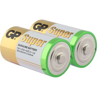 GP Batteries Super Alkaline D / Mono Alkaline 1.5 V 2er Pack