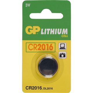 GP Batteries Knopfzelle CR2016 Lithium 3.0 V 1er Pack