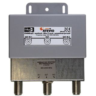 Atevio DiSEqC Switch 2/1 mit WSG