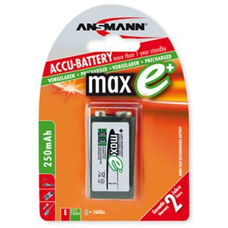 ANSMANN maxE 6F22 Nickel-Metall-Hydrid E Block Akku 270 mAh 1er Pack