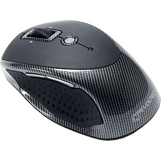 Revoltec Wireless FightMouse Portable Laser Maus Schwarz USB