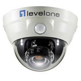 LevelOne IPCam FCS-3051 Tag/Nacht PoE Dome mit PIR