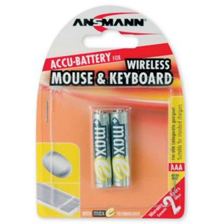 "Ansmann MaxE ""Wireless Mouse & Keyboard"" NiMH-Akku, Micro (AAA), 800 mAh, 2er Pack (5035503)"