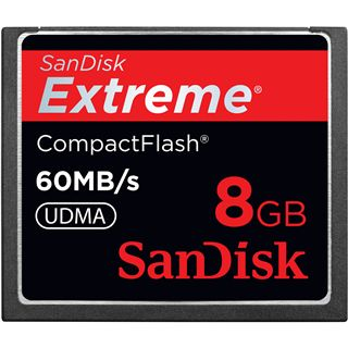 8 GB SanDisk Extreme Compact Flash TypI 400x Bulk
