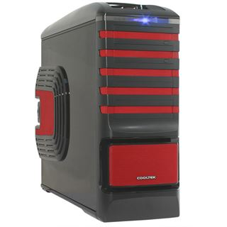 ATX Cooltek Ultimate Case Midi Tower o.NT Schwarz/Rot