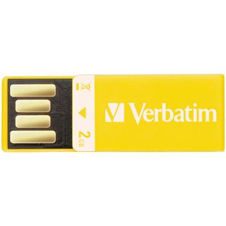 2 GB Verbatim Clip-it USB Drive gelb USB 2.0
