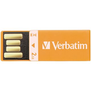 2 GB Verbatim Clip-it USB Drive orange USB 2.0