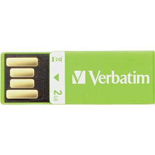 2 GB Verbatim Clip-it USB Drive gruen USB 2.0