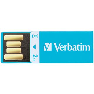2 GB Verbatim Clip-it USB Drive blau USB 2.0