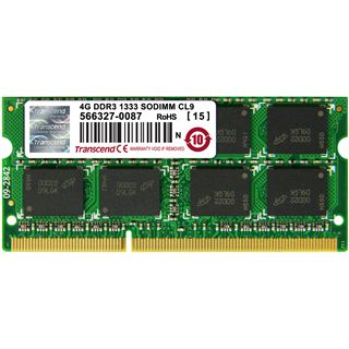 4GB Transcend Value DDR3-1333 SO-DIMM CL9 Single