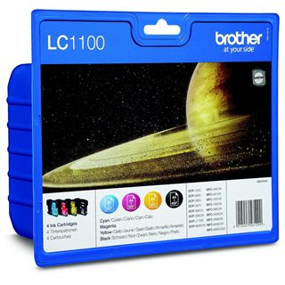 Brother Tinte LC1100 Value Pack LC-1100VALBP schwarz, cyan, magenta, gelb