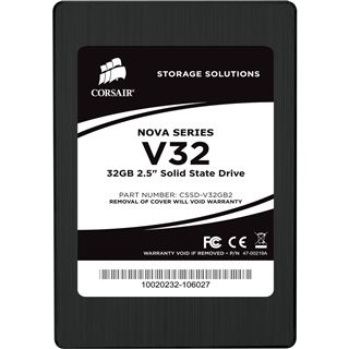 "32GB Corsair Nova Series 2.5"" (6.4cm) SATA 3Gb/s MLC asynchron (CSSD-V32GB2-BRKT)"