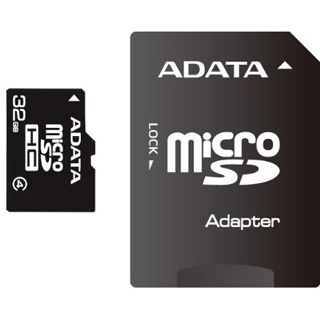 32 GB ADATA Turbo microSDHC Class 4 Retail inkl. Adapter