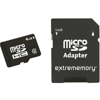 16 GB Extrememory Standard microSDHC Class 2 Retail inkl. Adapter