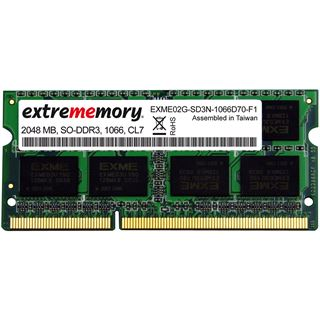 2GB Extrememory Value DDR3-1066 SO-DIMM CL7 Single