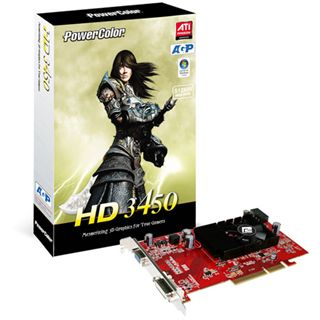 512MB PowerColor Radeon HD 3450 V2 Aktiv AGP (Retail)