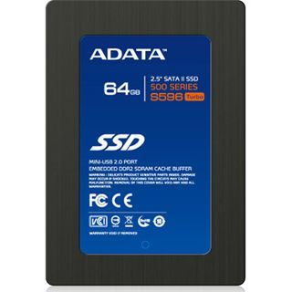 "64GB ADATA S596 2.5"" (6.4cm) SATA 3Gb/s MLC asynchron (AS596TB-64GM-C)"