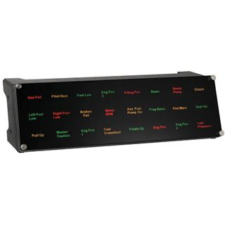Saitek Pro Flight Backlit Information Panel USB schwarz PC