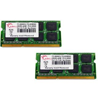 4GB G.Skill ValueRAM DDR3-1066 SO-DIMM CL7 Dual Kit